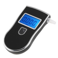 Wholesale Prefessional Police digital breath alcohol tester breathalyser alcohol testers black blacklight blue