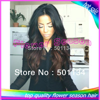 Brazilian Hair Ombre Color Wig,Half Wig Natural Body Wave Two Tone Color 1b#T4# U Part Wig Brazilian Human Hair Ombre None Lace Wig Middle Part In Stock For Black Women