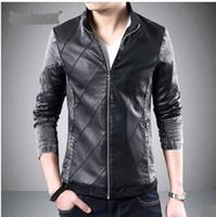 Jackets Men Denim 2015 Hitz tide thin section machine wagon jacket stitching washed denim jacket men 8988