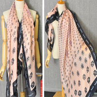 Wholesale J amp K Series Women s Long Silk Scarves Camellia Flower Pattern Scarf Colors CM