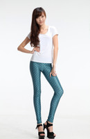 Leggings Skinny,Slim Women HOT SELL! Free Shipping Sexy Sea Maid Look Tights and Pants for Girls Green Fish Scale Printed Leggings and Tights for Women