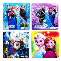 Wholesale 21pcs Fr0zen Princess Elsa Anna Puzzle Children s educational toys Gift