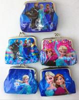 Wholesale Fashion Frozen wallet coin purse kids children girl women cartoon card holder handbag key bag change purses pocket bags