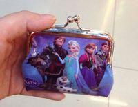 Wholesale Fashion Frozen wallet coin purse kids children girl women cartoon card holder handbag key bag change purses pocket