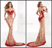 Reference Images sequin appliques - 2014 A line sweep train zipper sleeveless evening party prom gown dresses embroidery applique sequins modern new hot sale