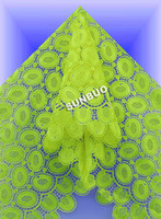 Wholesale High grade big rich cotton guipure lace fabric french cord lace African lace fabric lemon green red white gold available