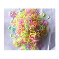 Girls 2-4 Years Multicolor 600-Piece Glow in the Dark Latex-Free Rubber Band loom bandsBracelet Loom Refill