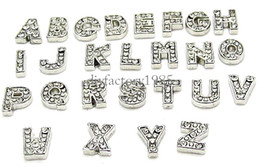 Wholesale 7MM Sparkling Crystal A Z Alphabet Letter Floating Charm Initial Locket Charms Pendants For Floating Locket DIY Charms LSFC113
