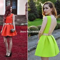 Wholesale jumpsuits Sexy Women Hollow Bodycon Party Neon Dress Club Wear Backless Bandage Dresses b10 SV001300