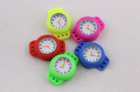 Wholesale LOOM BAND WATCHES JUST ARRIVED ROUND ANALOGUE FACES DROP SHIPPING