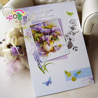 Wholesale The new liquid powder silk screen Birthday wishes to thank card design is optional greeting cards