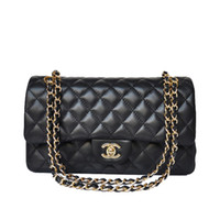 Wholesale New arrived designer handbag Fashion Women s Double Flap Bag Quilted PU Flap chain Bag