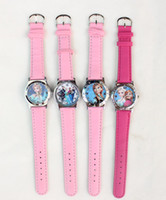 Wholesale 2014 Hot Sale New lovely Frozen Girls Ladies No pattern Wrist Watch Quartz Fashion Gift