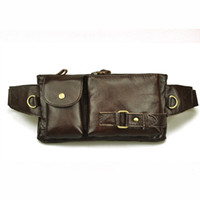 Wholesale Korean real leather waist bag fanny pack bum bag chest pack