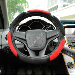 Wholesale New Warm Anti slip Ergo Soft Sport Leatherette Auto Car Steering Wheel Cover CM