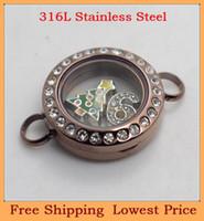 Slap & Snap Bracelets Unisex Chain & Link Bracelets Wholesale DIY 20mm crystal Chocolate magnet 316L stainless steel living glass floating locket bracelet B27