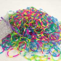 0-12M Multicolor rubber  Bands Loom bands Tie dye Metallic color Jelly Glow in dark Ripple rubber bands (300 Bands +12 S Clips + 1 hook )mixed colors