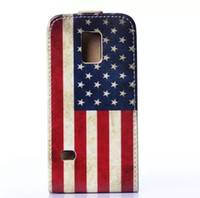 uk flag - Leather Case For Samsung Galaxy S5 mini Flip Vertical UK USA Flag Butterfly Flower Vintage Cover with credit card slot mix order
