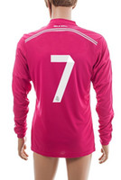 Thai Quality Customized Pink Away14- 15 Season Long Sleeves #...