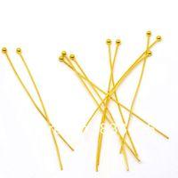 Pins & Needles ball head pins - Gold Plated Ball Head Pins x50mm Findings W01844X1