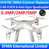 Wholesale HJ370 HJ370C m Control Range Pathfinder G CH Axis GYRO with MP MP Camera FPV RC Quadcopter Quadricopter UFO Ar Drone VS WL V353