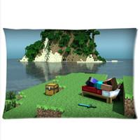 Wholesale animefans hot game minecraft Custom Pillow Case Side minecraft pillowcase MC17