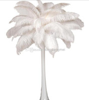 Wholesale EMS FREESHIPPING pc inch White Ostrich Feather Plume for Wedding Centerpieces table decoration Z134