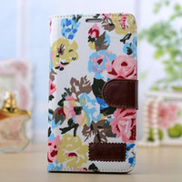Wholesale Fashion Cotton Print PU Leather Case For IPhone S stand cell phone bags cases for iphone4s with card holder