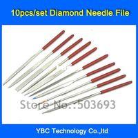 Carbide Round Mini Files Wholesale-407-Free Shipping 10pcs set 4*160mm Needle Files Jewelers Diamond Wood Carving Craft Tool Metal Glass Stone