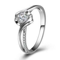 real diamond ring - Diamond Wedding Ring For Women GVBORI K White Gold Real Diamond Ring Shining Forever Fine Jewelry Wedding Engagement