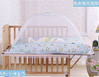 Children Crib Circular Semi-automatic Bed Nets,Effective Drive Midge,Crib Canopy Mosquito Net Netting, Hight Quality Encryption