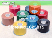 Wholesale cm x m Kinesiology Kinesio Roll Cotton Elastic Adhesive Muscle Sports Tape Bandage Physio Strain Injury Support