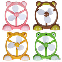 Wholesale Mini Cute Animal Shape Cartoon USB Powered Air Electric Fan for Office Desks with Optional Colors