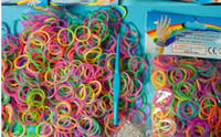 Link, Chain Other Children's Glow in THE DARK 300pcs 12 pcs S Rainbow Loom bands kit bracelet Colorful Rubber Bands amazing gift for children Mix colors handmade DIY