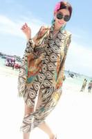 bohemian clothes - New Yellow Pink Bohemian Peacock Beach Sarong Swimwear Cover up Fashion Beachwear beach dress beach clothes B4358