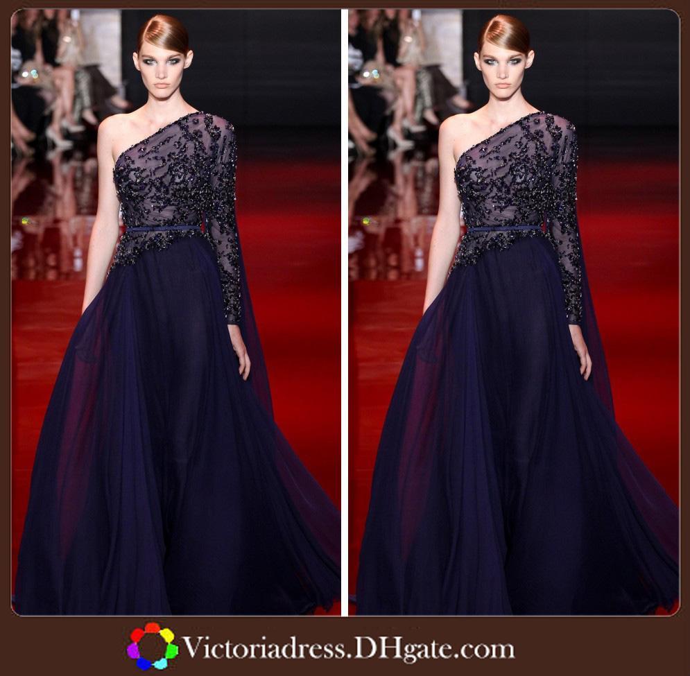 Famous Designer Long Sleeve Zuhair Murad Evening Dresses One ...