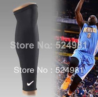 Cheap Wholesale-407-Free shipping 2pcs lot Basketball Sport Protect Leg Sleeve Compression Calf Stretch Brace Thigh Skin F knee protect