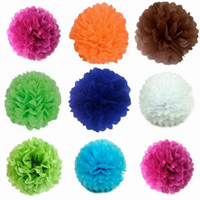 Wholesale 15 Inch Colors Newest Tissue Paper Pom Poms Blooms Flower Balls Packaging For Party Room Decoration Wedding Car Christmas Ornament