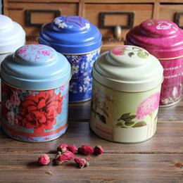 Wholesale Retro tin tea storage tank the built in compartments No B0532 home drinking tea with