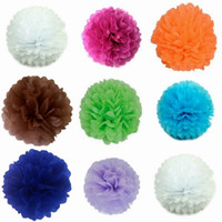 Wholesale 15 Inch Colors New Arrival Tissue Paper Pom Poms Blooms Flower Balls For Party Decoration Wedding Car Christmas Ornament