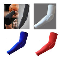 Wholesale Basketball Sleeve With Elbow Pads Protector Basketball Arm Sleeve Anti Shock Stretch Padded Arm Sleeves colours
