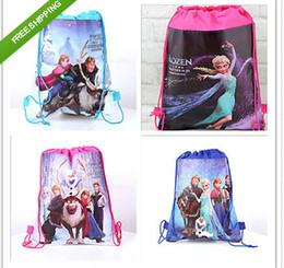 Wholesale 2014 HOT Pop Frozen Princess Environmental Drawstring Bagfrozen party bag LJJA36