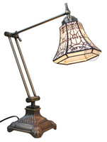 Tiffany lamps stained glass - Stained Glass Style Adjustable Brightneess Desk Reading Lamp