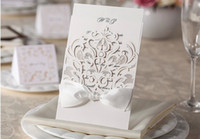 best envelopes - Wishmade WM200 best new style white hollow out invitations Wedding Invitations come envelopes sealed card