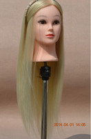 Wholesale 26 Cosmetology Mannequin Manikin Training Head with Gold Hairn For Professional Hairdressing