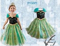 Wholesale 2014 Frozen Dress TUTU Kids Girl Party Dress Anna Princess Costume Baby Girls Elsa Dress Frozen Dress