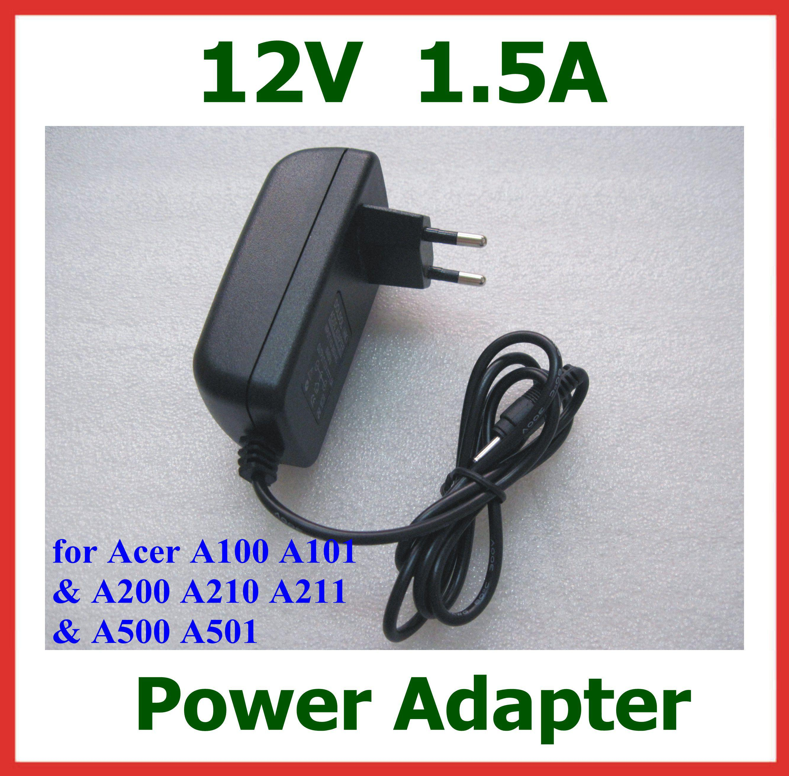 Buy 12V 1.5A 18W Tablet Battery Charger Acer Iconia Tab w3 w3-810 A100 A101 A200 A210 A211 A500 A501 Lenovo Miix 10 Miix2