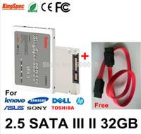 Wholesale Kingspec Inch SATA III SATA II SSD GB hard drive Solid State Disk MLC Internal Hard Drives Free SATA Cable MAX GB GB