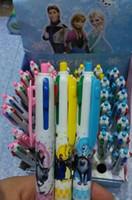 Wholesale Frozen Elsa Anna Cartoon Student Study Pens New Arrival Children Stationery Four Color Snow Queen Office Supplies Ball Point Pen G0605