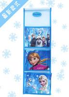 Wholesale 201407y Frozen letter Stuff Sacks cm Cute cartoon Three layer receive bag letter holder